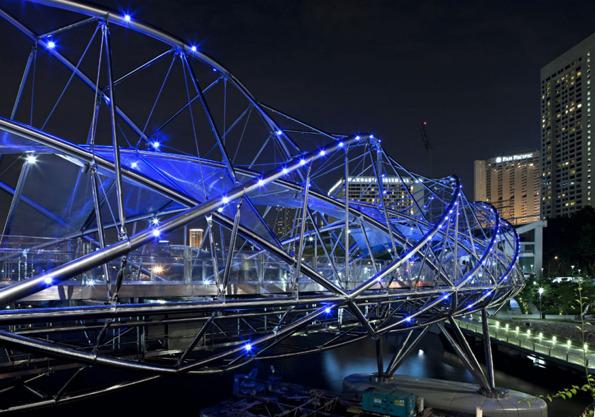 جسر الحلزون سنغافورة في خليج ماريانا 1322614310-201019965