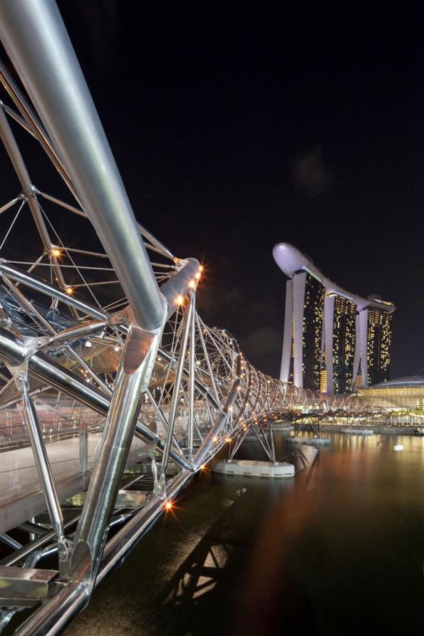 جسر الحلزون سنغافورة في خليج ماريانا 1322620535-201019965