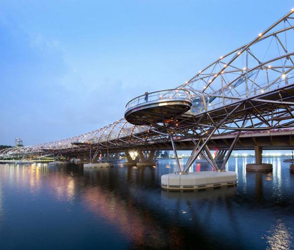 جسر الحلزون سنغافورة في خليج ماريانا 1322620865-201019965