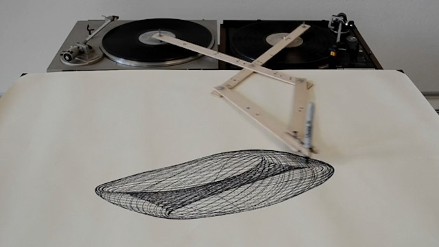 Two Turntables Are A Drawing Machine The Creators Project